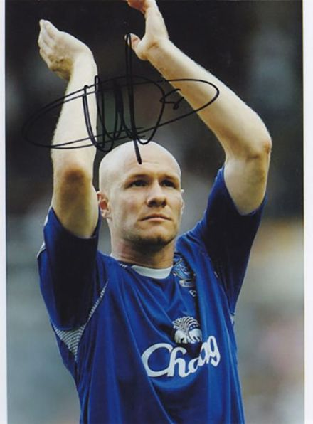Andy Johnson, Everton, signed 8x6 inch photo.(2)
